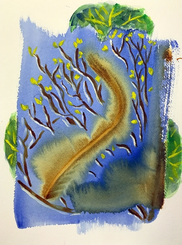 Watercolor: Abstract - Leaf Fantasy