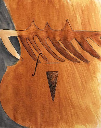 Watercolor: Abstract - Violin 030417