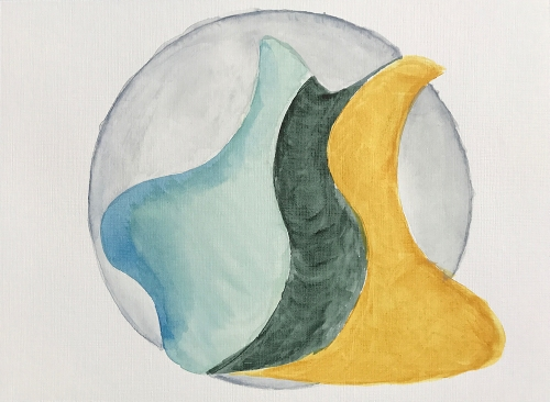 Watercolor: Abstract - Ball and Socket 030117