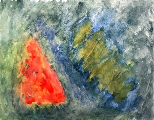 Watercolor: Abstract - Red 040417