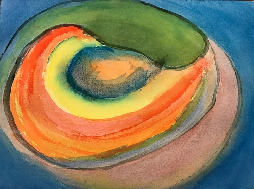 Watercolor: Abstract - Ovals 041117