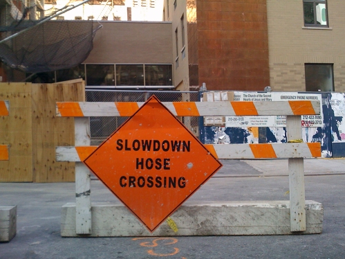 Photograph: Hose Crossing Sign