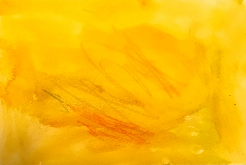 Watercolor: William's Abstract - Hot, Hot Fire
