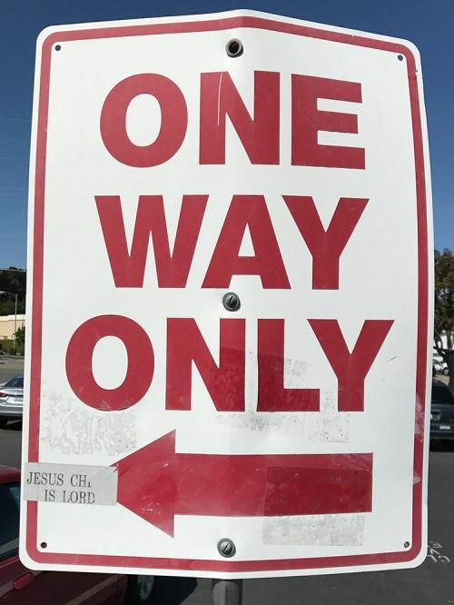 Photograph: Parking Lot Sign