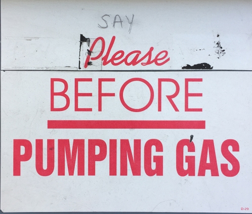 Photograph: Gas Pumping Instructions
