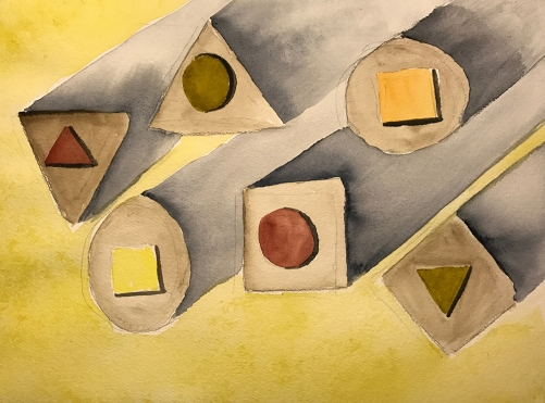 Watercolor: Abstract - Untitled Geometric 042417