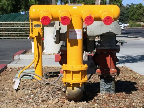 Photograph: Yellow Fire Standpipe