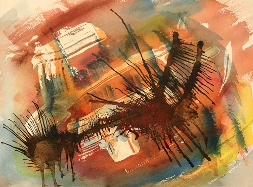 Watercolor: Abstract - Elaborate Splashes