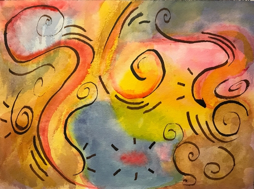 Watercolor: Abstract - Curlicues