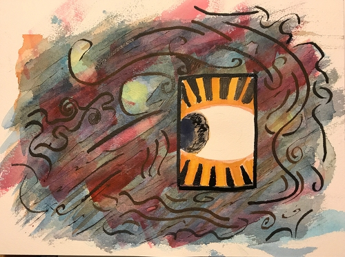 Watercolor: Abstract - Looking Out or In?