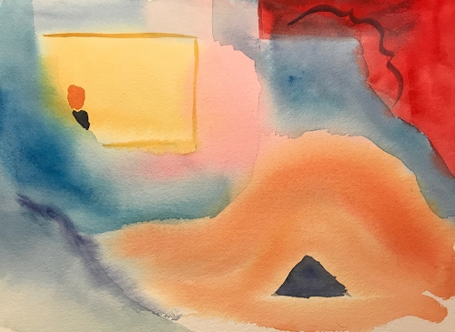 Watercolor: Abstract - After Matisse