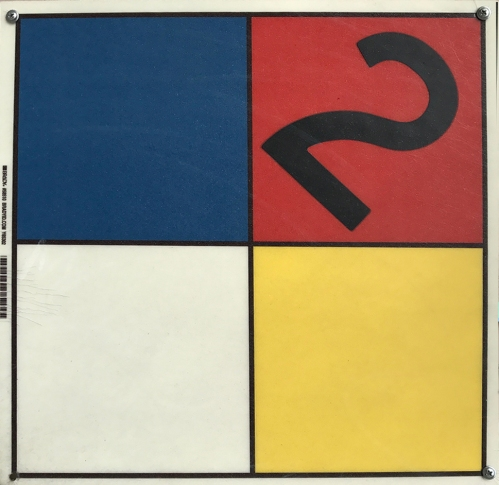 Photograph: Found Art - Mondrian Composition 2 Sign 051217