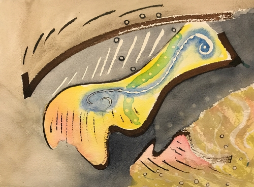 Watercolor: Abstract - Ink and Watercolor