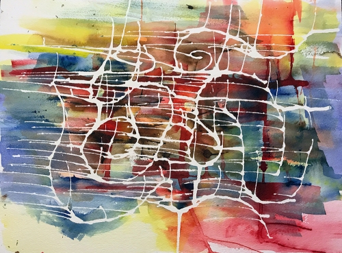 Watercolor and Ink: Abstract - City 061417