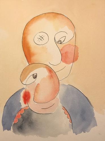 Watercolor: Double Portrait - The Loving Couple 060117