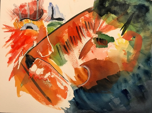 Watercolor: Abstract - Mike Portrait #5 062217
