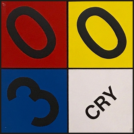 Photograph: Found Art - Mondrian Composition 300 CRY