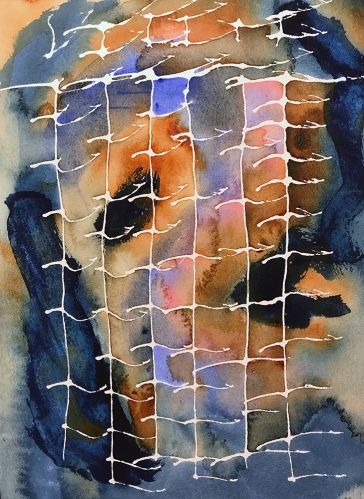 Watercolor: Abstract - Portrait with Net 061617
