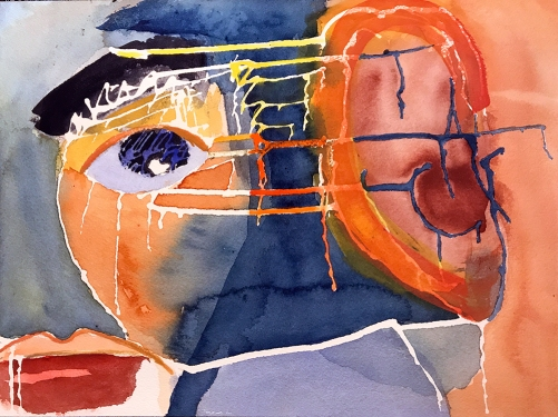 Watercolor: Abstract - Mike Portrait #4 062117