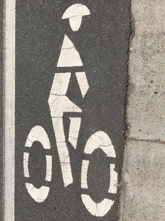 Photograph: Bicycle Icon on Street 062817