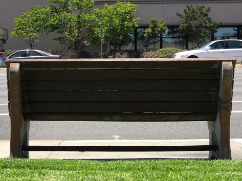Photograph: Bench at Bus Stop No. 4 of Series