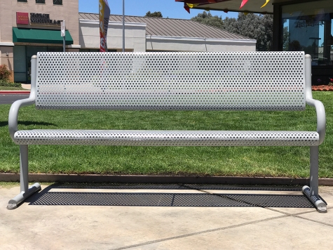 Photograph: Bench at Fast Food Place, No. 5 of Series
