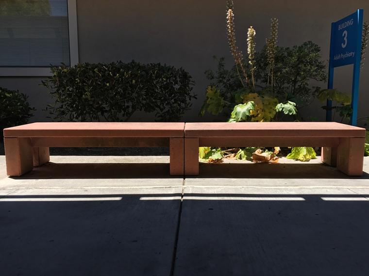 Photograph: Bench at Medical Center Campus, No. 6 of Series