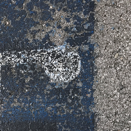 Photograph: Fading Pavement Painting 7-18-17