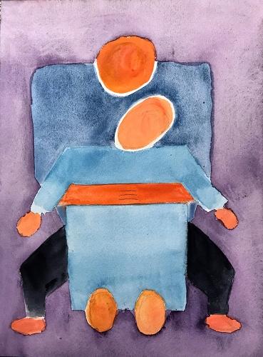 Watercolor: Abstract - Block Figures 072717