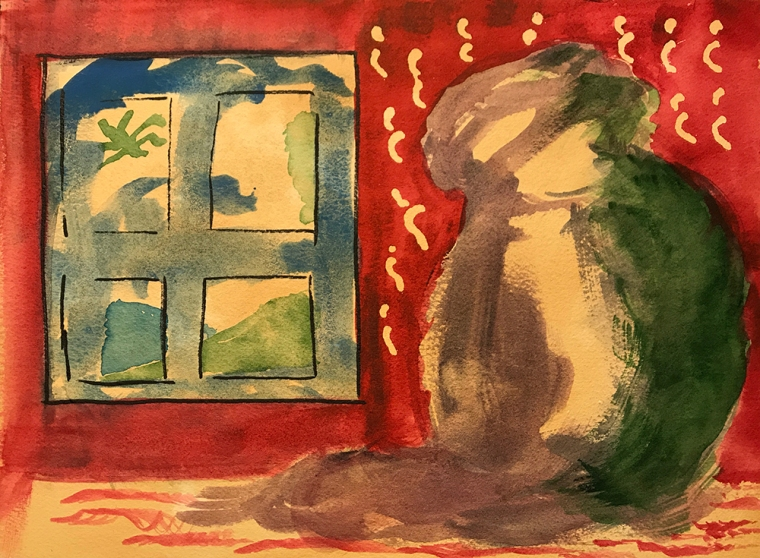 Watercolor: Inspired by Matisse 070517