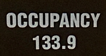 Photograph: Occupancy Sign Closeup 133.9 7-25-17