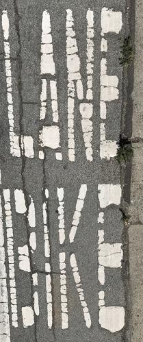 Photograph: Lane Bike (Pre Bikon Pavement Sign) 070217