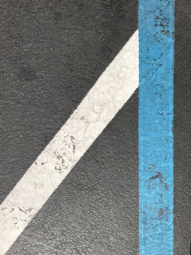 Photograph: White and Blue Lines 7-5-17