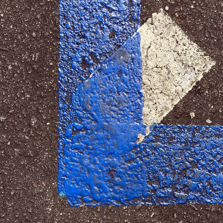 Photograph: Street Photograph - Corner Line with Dotted Line Beginning 081317