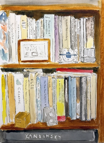 Watercolor: Book Case 082217