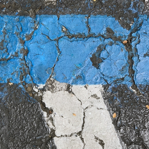 Photograph: Street Lines, Craggy Paint 081517