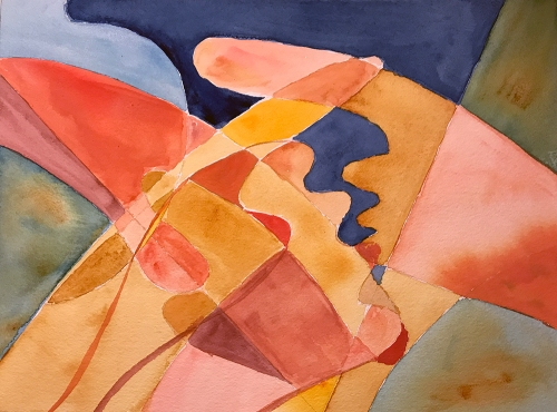 Watercolor: Abstract - Hands, Five 083017