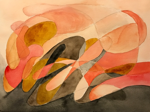 Watercolor: Abstract - Fantasy on Hands 082017
