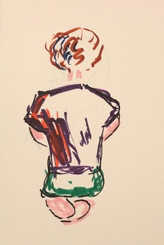 Watercolor: Portrait - Lego Builder 080517
