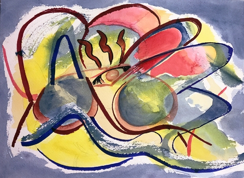 Watercolor: Abstract - Monster From Fantastic Planet 092017