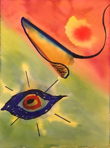 Watercolor: Abstract - Heartburn 091017