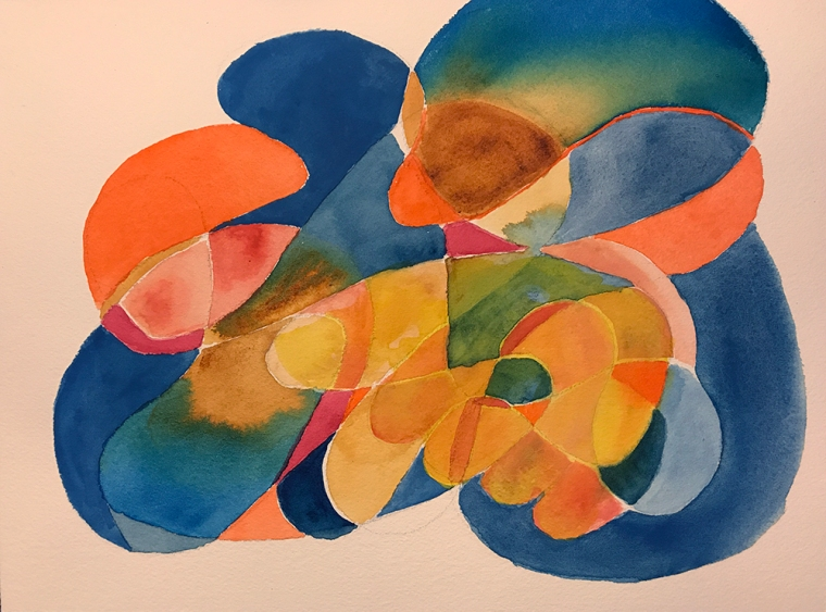 Watercolor: Abstract - Free form with Fingers