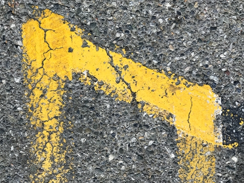 Photography: Derelict Parking Lot Yellow - Street Photograph 092217