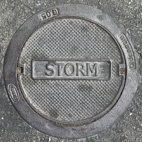 Photograph: Storm Drain Cover 092617