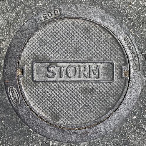 Photograph: Storm Drain Cover 092617