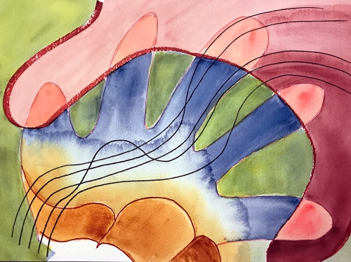 Watercolor: Abstract - Hands Duet 090317