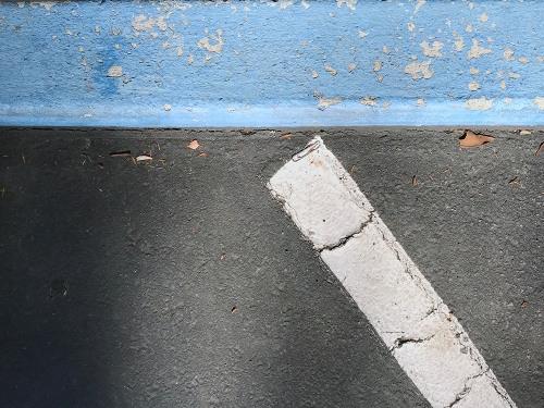 Photography: Street Photography - 3D Blue Line 102817