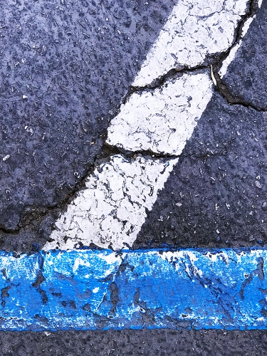 Photography: Painted Lines on Parking Lot - Acute Angle 102317