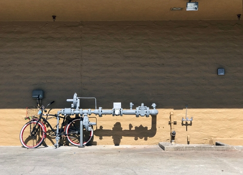 Photograph: Bicycle and Gas Meter 100517