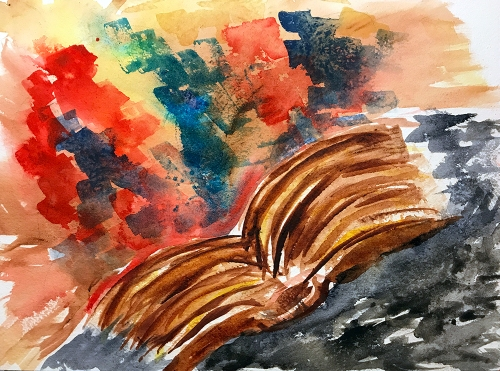 Watercolor: Abstract - Brimming with Information 100117